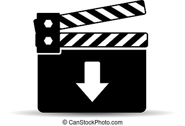 Download video icon isolated on white background