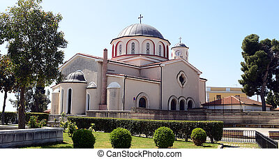 Orthodox church in old town of Kavala, Greece
