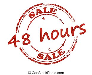 Sale forty eight hours - Rubber stamp with text sale forty...
