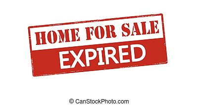 Home for sale expired - Rubber stamp with text home for sale...