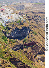 Cityscape of Thira in Santorini island, Greece - Cityscape...