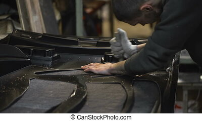 Wizard carves plastic parts from a sheet Details obtained by...