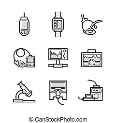 Medical Device Icon Set