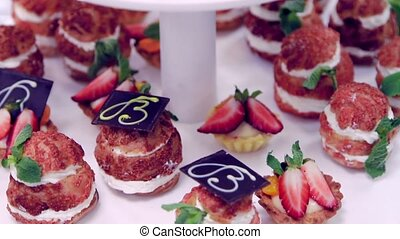 Sweets cake with strawberries