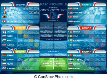 Cup EURO 2016 Finals Schedule - Cup EURO 2016 final...