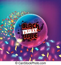 Black Friday sale - Illustration of Black friday sale with...