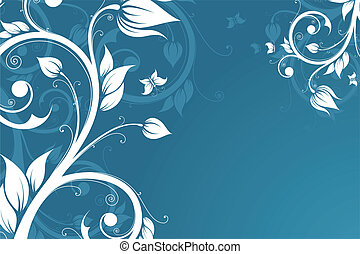 Abstract Background with flowers and butterfly for your...