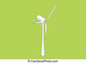 Wind turbine isometric flat vector 3d illustration, Wind...