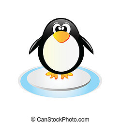 Penguin - Very nice illustration of happy pinguin