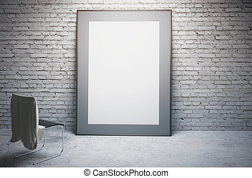 White frame and chair