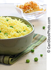 Vegetable rice - Indian style, Basmati - Saffron flavoured...