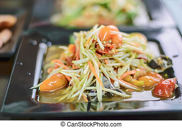 Som Tum Thai papaya salad Traditional Thai food