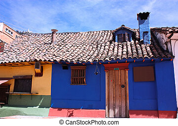 Colonial house - blue house in the spanish colonial...