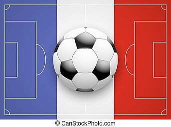 France Flag and Championship of football - Flag of France...