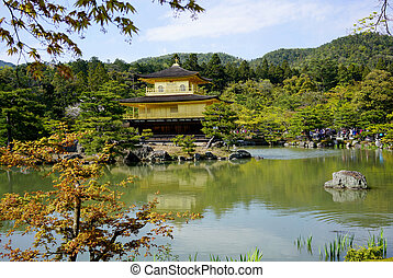 Golden Pavilion at Kinkakuji Temple - Kinkakuji Temple The...