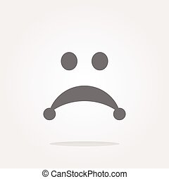 vector Sad icon button isolated on white background