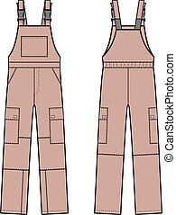 Overalls - Vector illustration of overalls with braces....