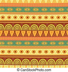 Ethnic seamless pattern. Hand drawn tribal texture in vector