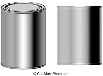 Paint bucket - 3D computer illustration on white background
