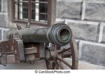 Detailed Cannon Ball View - Close up detailed view of old...