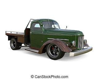 Old restored pickup Pick-up in the style of hot rod 3d...
