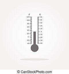 vector Thermometer web icon button