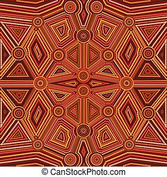 Abstract style of Australian Aboriginal art