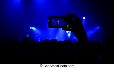 phone display at the concert