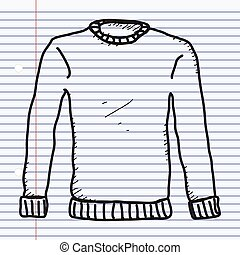 Simple doodle of a jumper - Simple hand drawn doodle of a...