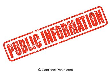 PUBLIC INFORMATION red stamp text