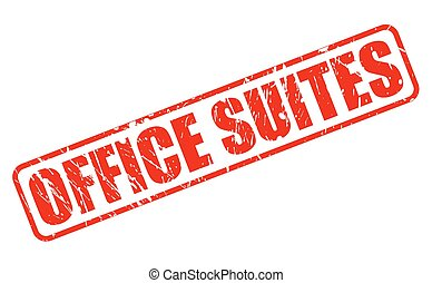 OFFICE SUITES red stamp text on white