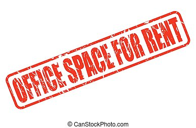 OFFICE SPACE FOR RENT red stamp text on white
