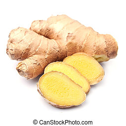 Ginger root  isolated white background