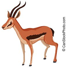 Antelope with sharp horns illustration