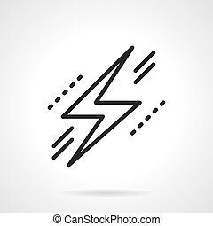 Lightning bolt symbol black line vector icon