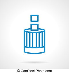 Accumulation of funds blue line vector icon - Cylindrical...
