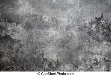 grey background wall made on real plaster
