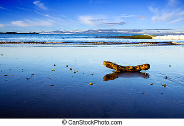 Beautiful Beach Scene, Taipa, New Zealand - A beautiful...
