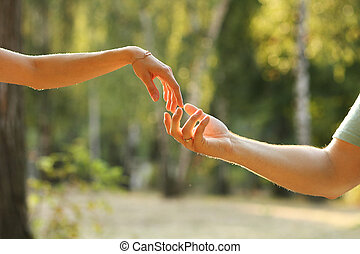 two hands loving couples - a two hands loving couples