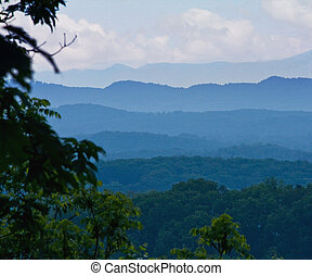 Smoky Mountains - View of Smoky Mountains early in the...