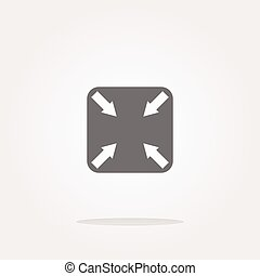 vector abstract lines (arrows) on web glossy icon (button)