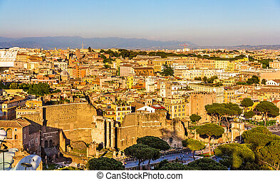 Forum of Augustus in Rome, Italy - View of the Forum of...
