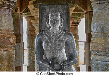 Statue of a woman in the Jain temple in India