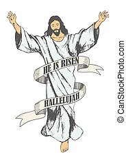 Ascension Of Jesus Christ - Sketch illustration of the...