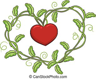 Vines Forming a Heart Shape