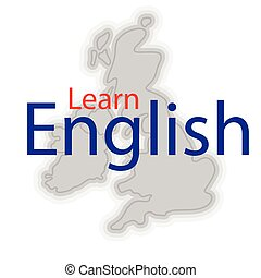 Great Britain English - Simple map of Great Britain with...