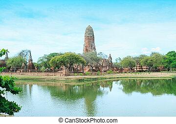 Pagoda at the ancient city, Ayutthaya, Thailand