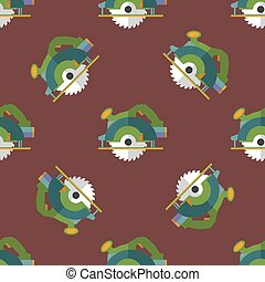 vector circular saw seamless pattern - vector colorful flat...
