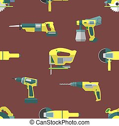 vector remodel tools seamless pattern - vector colorful flat...