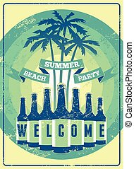 Typographic Summer Party poster.